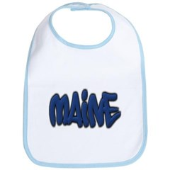 Maine Graffiti Baby Bib