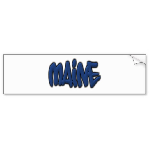 Maine Graffiti Bumper Sticker