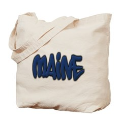 Maine Graffiti Canvas Tote Bag