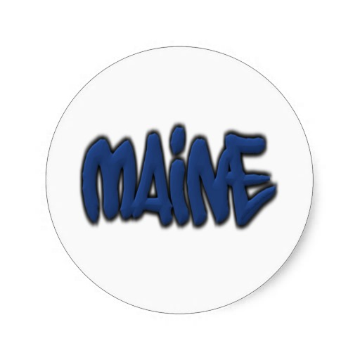 Maine Graffiti Classic Round Sticker