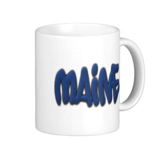 Maine Graffiti Classic White Mug