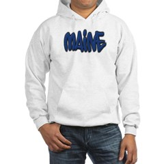 Maine Graffiti Dark Hooded Sweatshirt