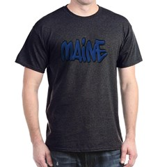 Maine Graffiti Dark T-shirt