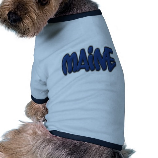 Maine Graffiti Doggie Ringer T-Shirt