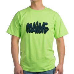 Maine Graffiti Green T-Shirt
