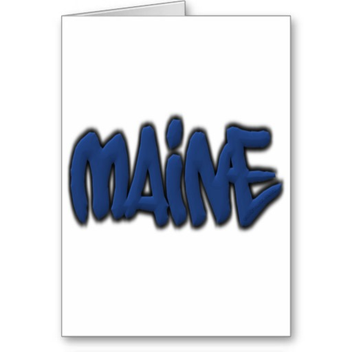 Maine Graffiti Greeting Card