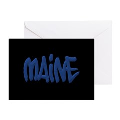 Maine Graffiti Greeting Cards (Pk of 20)