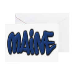 Maine Graffiti Greeting Cards (Pk of 10)