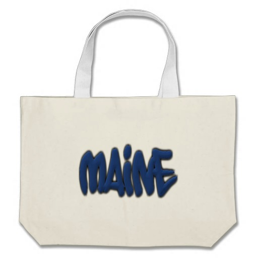 Maine Graffiti Jumbo Tote