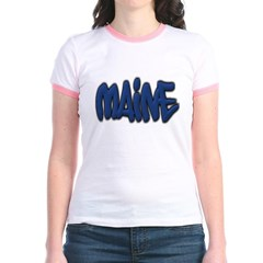 Maine Graffiti Junior Ringer T-Shirt