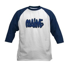 Maine Graffiti Kids Baseball Jersey T-Shirt