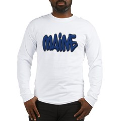 Maine Graffiti Long Sleeve T-Shirt