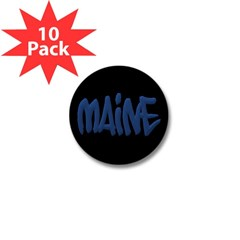 Maine Graffiti Mini Button (10 pack)