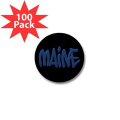 Maine Graffiti Mini Button (100 pack)