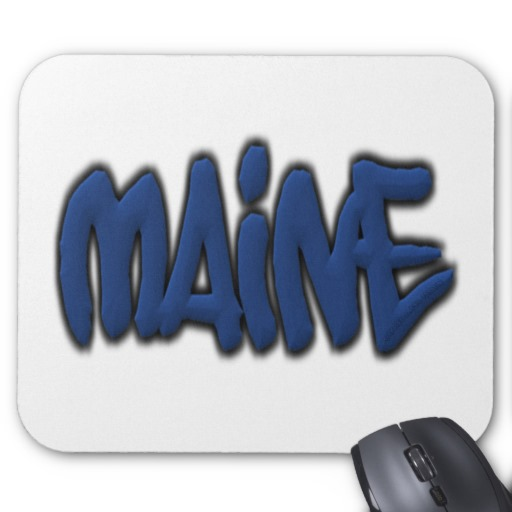 Maine Graffiti Mousepad