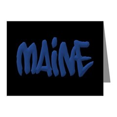 Maine Graffiti Note Cards (Pack of 10)