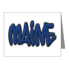 Maine Graffiti Note Cards (Pk of 10)