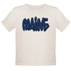 Maine Graffiti Organic Toddler T-Shirt