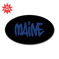 Maine Graffiti Oval Decals 50 Pack