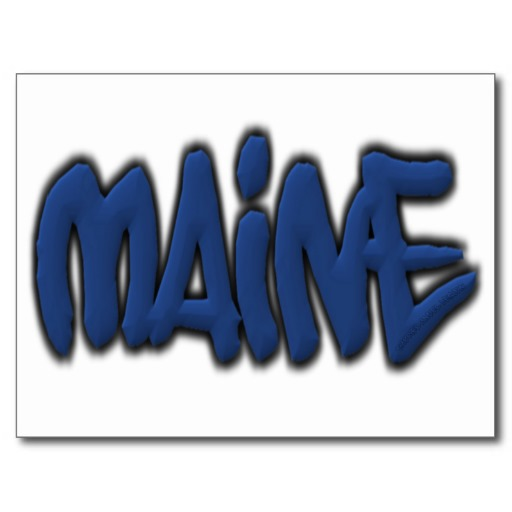 Maine Graffiti Postcard