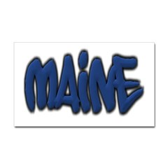 Maine Graffiti Rectangle Decal