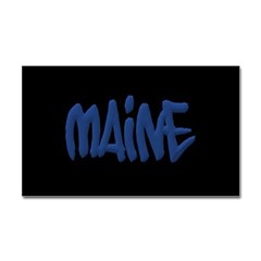 Maine Graffiti Rectangle Decals