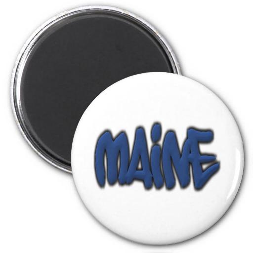 Maine Graffiti Refrigerator Magnet