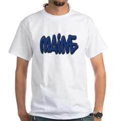 Maine Graffiti White T-Shirt