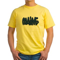 Maine Graffiti Yellow T-Shirt