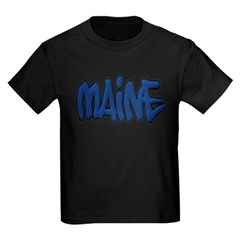 Maine Graffiti Youth Dark T-Shirt by Hanes