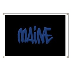 Maine in Graffiti Style Letters Banner