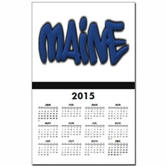 Maine in Graffiti Style Letters Calendar Print
