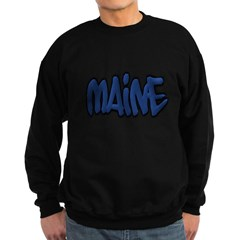 Maine in Graffiti Style Letters Dark Sweatshirt