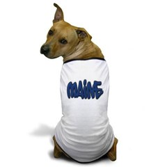 Maine in Graffiti Style Letters Dog T-Shirt
