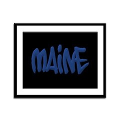 Maine in Graffiti Style Letters Framed Panel Print