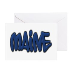 Maine in Graffiti Style Letters Greeting Card