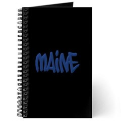 Maine in Graffiti Style Letters Journal