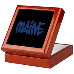 Maine in Graffiti Style Letters Keepsake Box