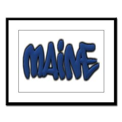 Maine in Graffiti Style Letters Large Framed Print