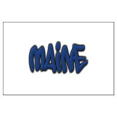Maine in Graffiti Style Letters Large Posters