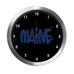 Maine in Graffiti Style Letters Modern Wall Clock