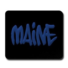 Maine in Graffiti Style Letters Mousepad