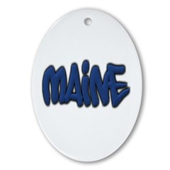 Maine in Graffiti Style Letters Ornament (Oval)
