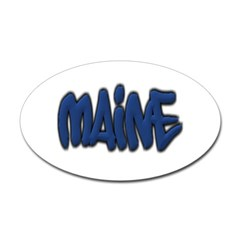 Maine in Graffiti Style Letters Oval Decal