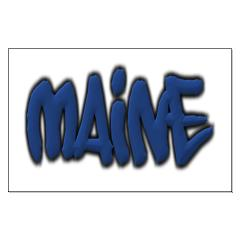 Maine in Graffiti Style Letters Posters
