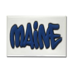 Maine in Graffiti Style Letters Rectangle Magnet