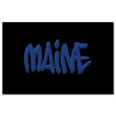 Maine in Graffiti Style Letters Small Poster