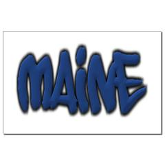 Maine in Graffiti Style Letters Small Posters