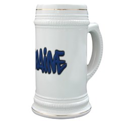 Maine in Graffiti Style Letters Stein