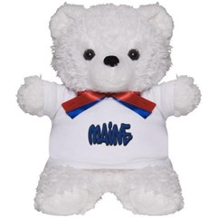Maine in Graffiti Style Letters Teddy Bear